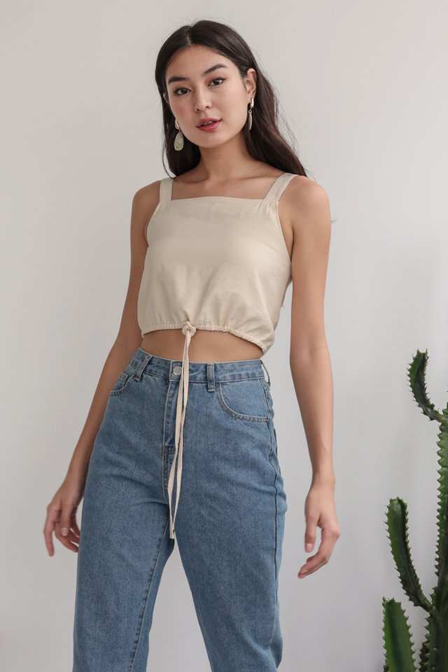 Kade Drawstring Top (Nude)