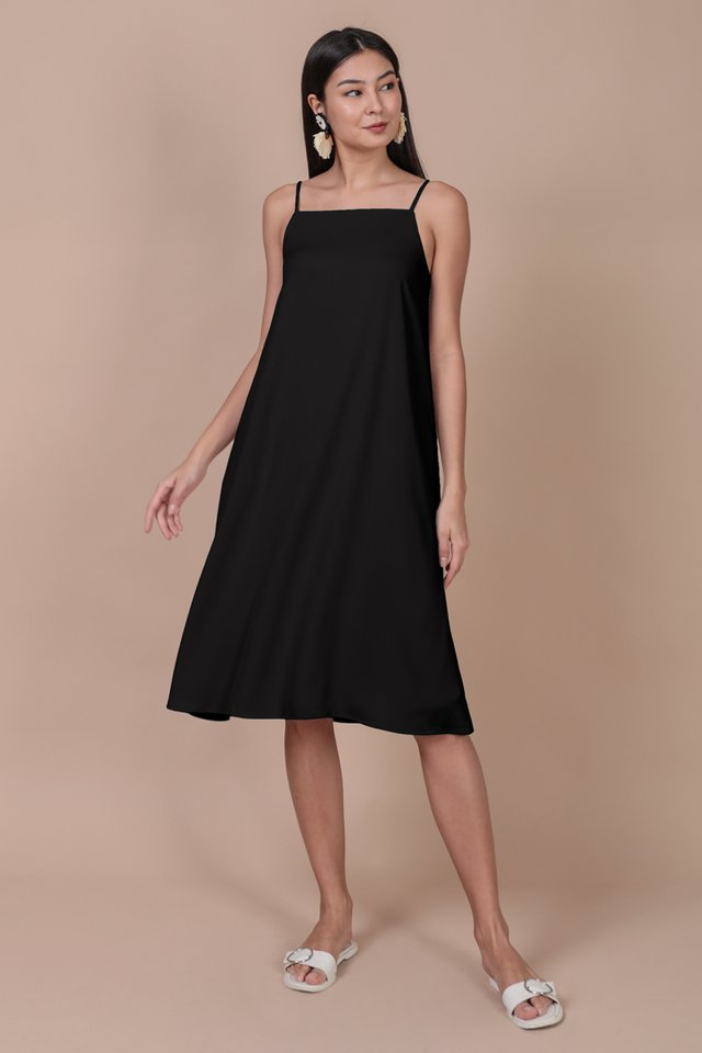 Lyra Tent Dress (Black)