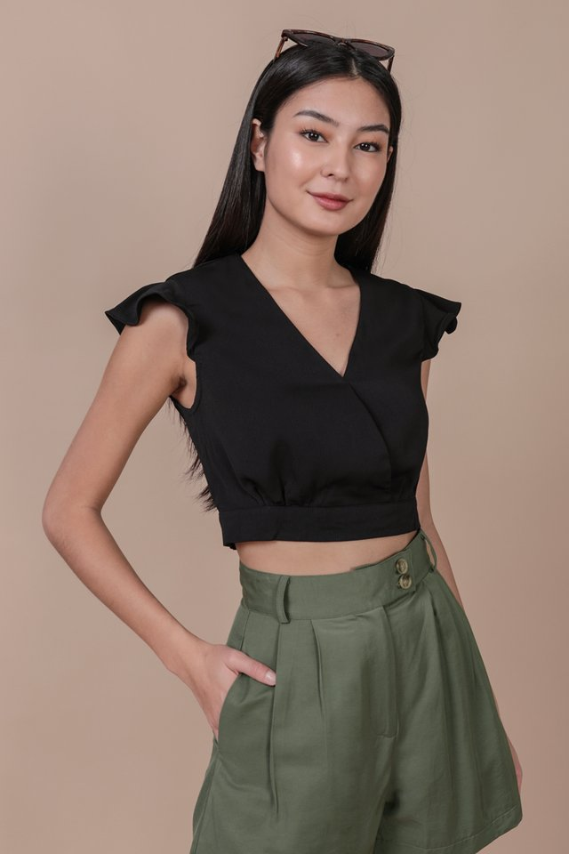Misha Ruffles Top (Black)