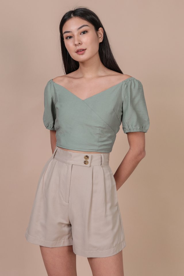 Ace Off Shoulder Top (Seafoam)