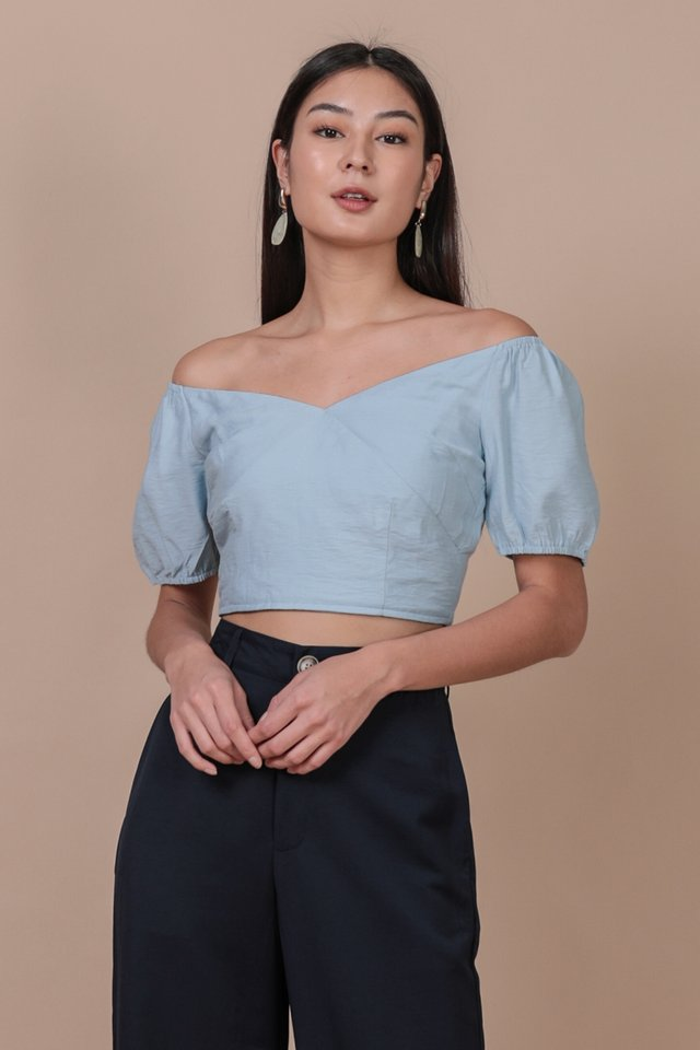 Ace Off Shoulder Top (Sky)