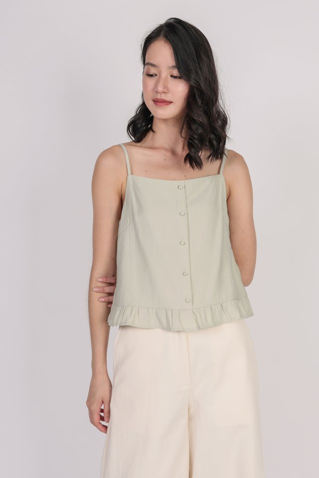 Arissa Ruffles Top (Light Mint)