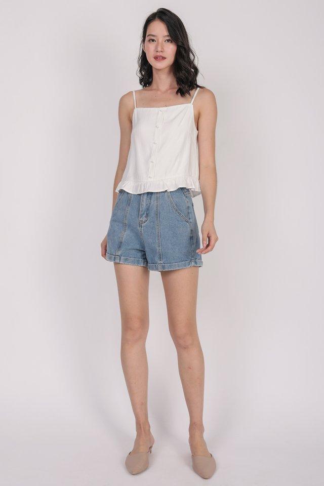 Arissa Ruffles Top (White)