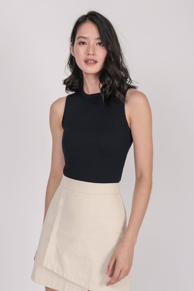 Connie Knit Top (Navy)