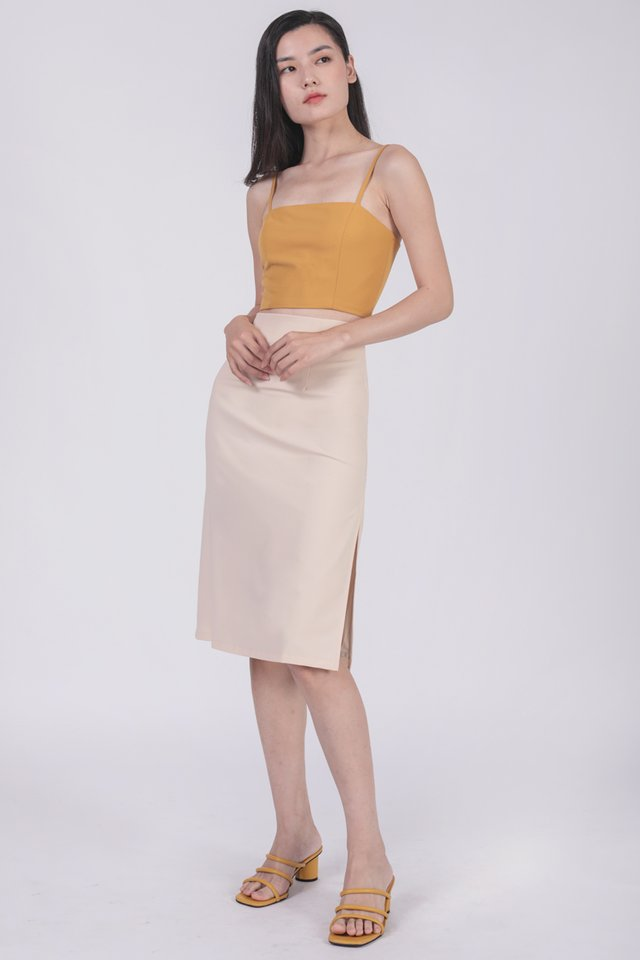 Deon Cropped Top (Yellow)