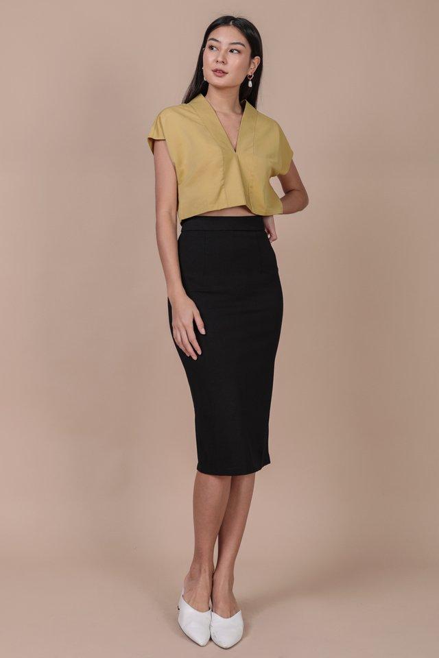 Dunley Midi Skirt (Black)