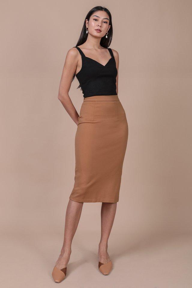 Dunley Midi Skirt (Camel)