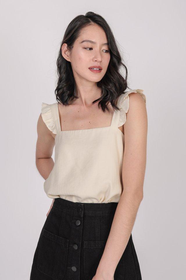 Jess Flutter Top (Cream)