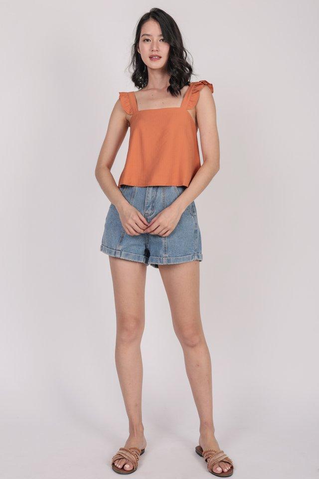 Jess Flutter Top (Orange)