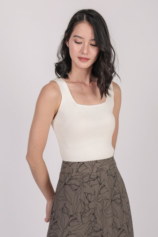 Lester Knit Top (White)