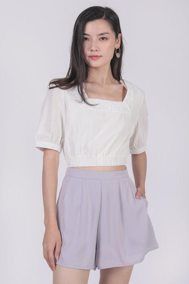 Petal Flare Shorts (Lilac)