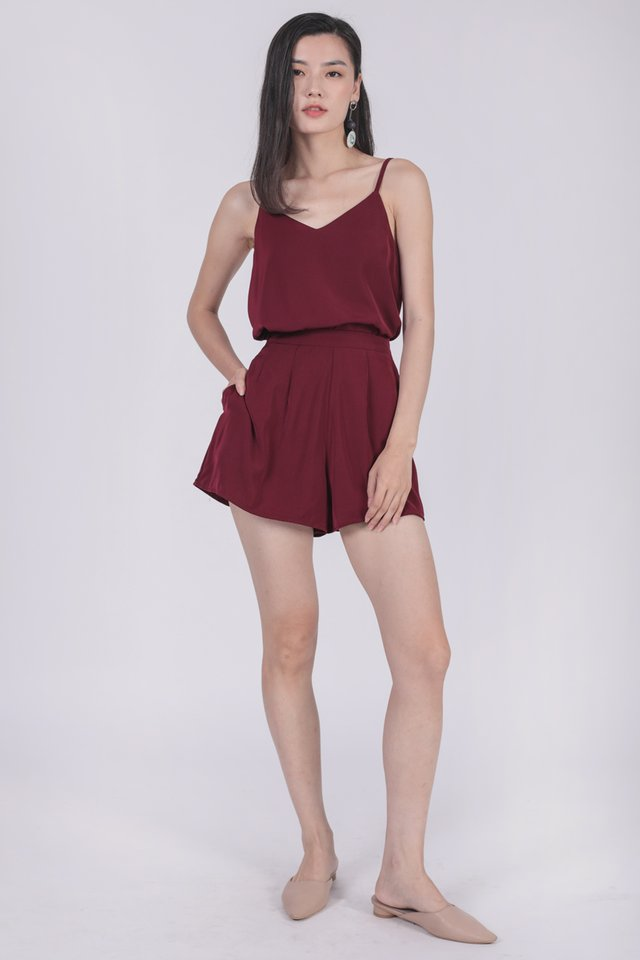 Sherry Spag Top (Maroon)