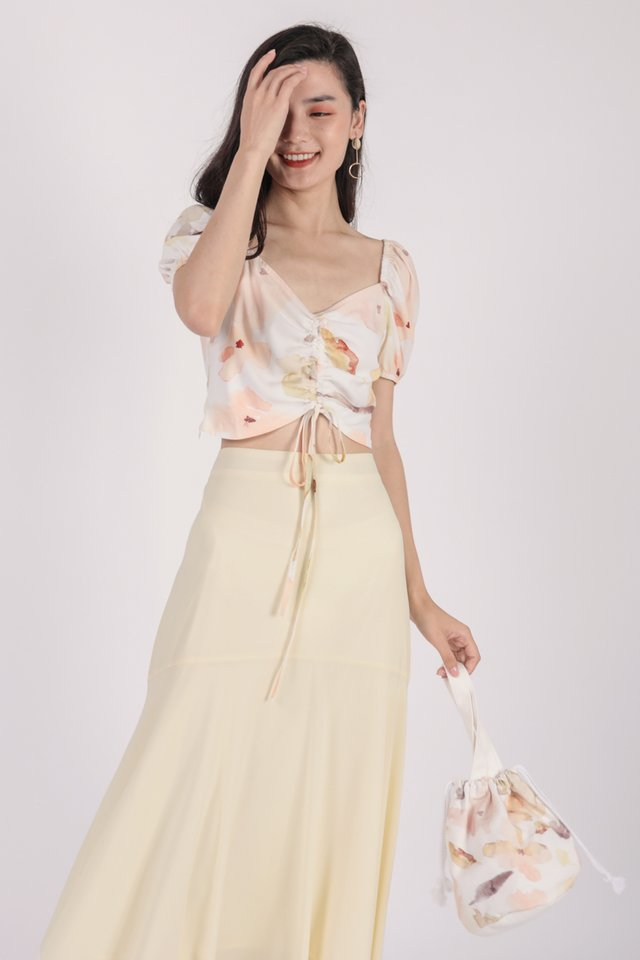 Fiori Midi Skirt (Cream)
