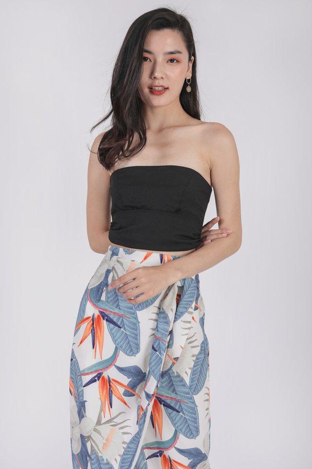 Jun Wrap Skirt (White Tropical)