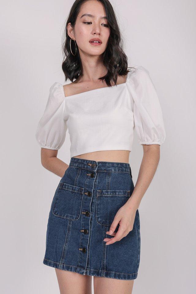 Dalton Denim Skirt (Dark Wash)