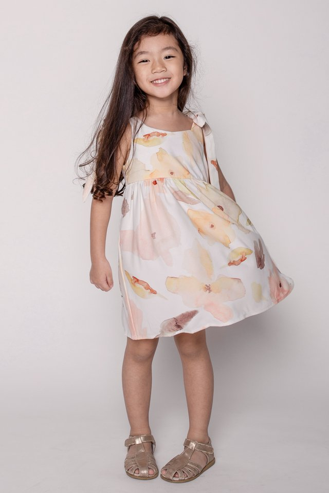 Emma Ribbon Dress (Florescent)