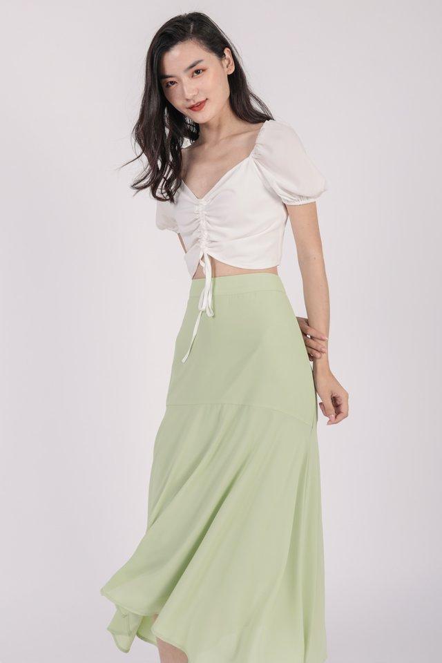 Alara Drawstring Top (White)