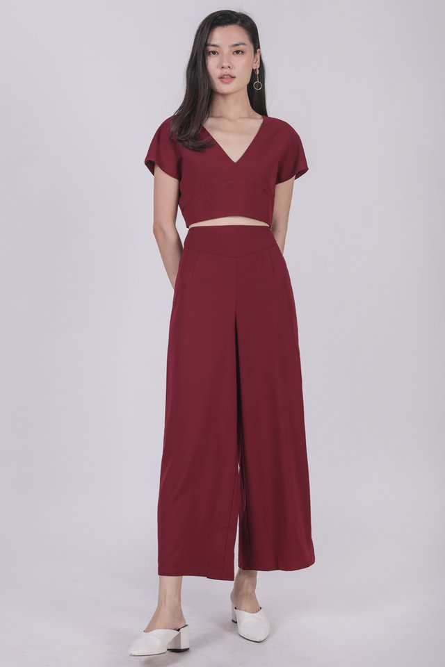 Juda Cropped Top (Maroon)