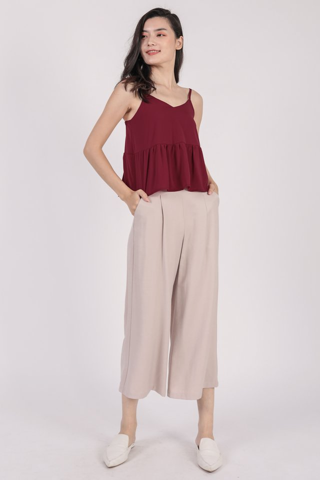 Marid Babydoll Top (Cherry)