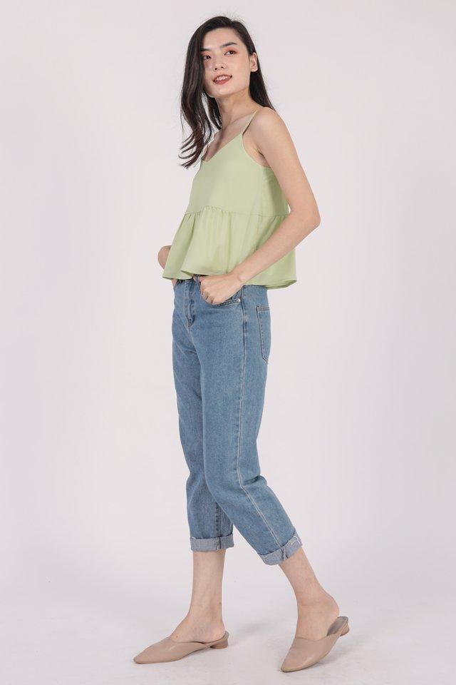 Marid Babydoll Top (Spring Green)