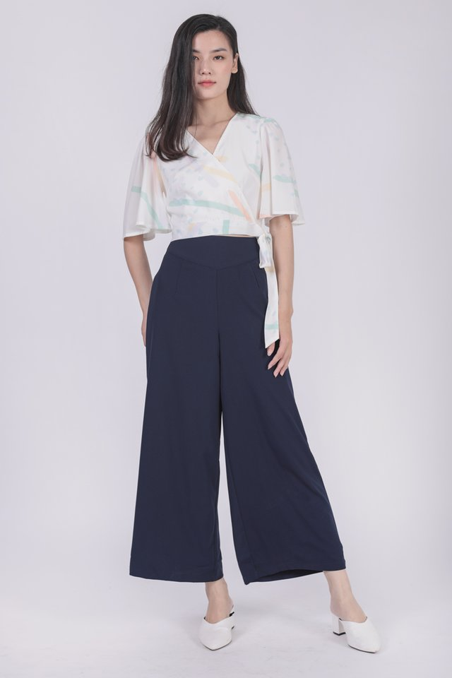 Russo Wide Leg Pants (Navy)