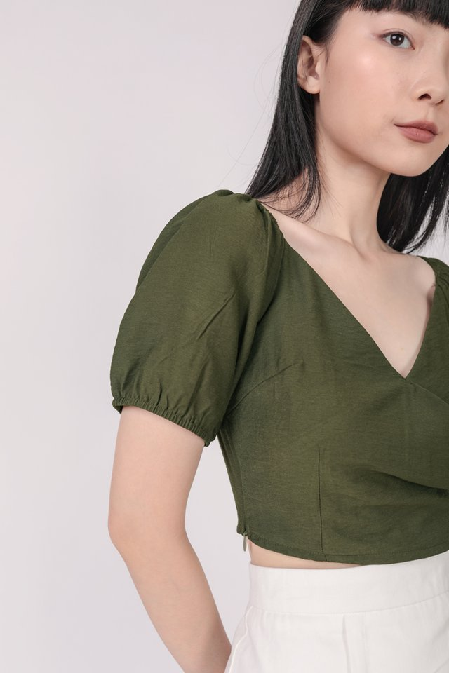 Ace Off Shoulder Top (Olive)